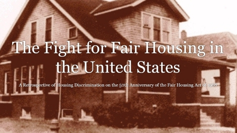 The Fight For Fair Housing in the United States